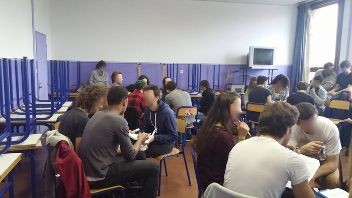 Intervention en classe de terminale scientifique